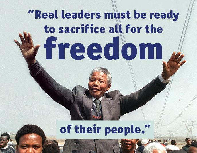 Real leaders must be ready to sacrifice all the freedom of their people.