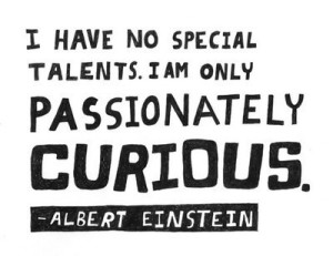 quotes on passion: I have no special talents. I am only passionately curious.