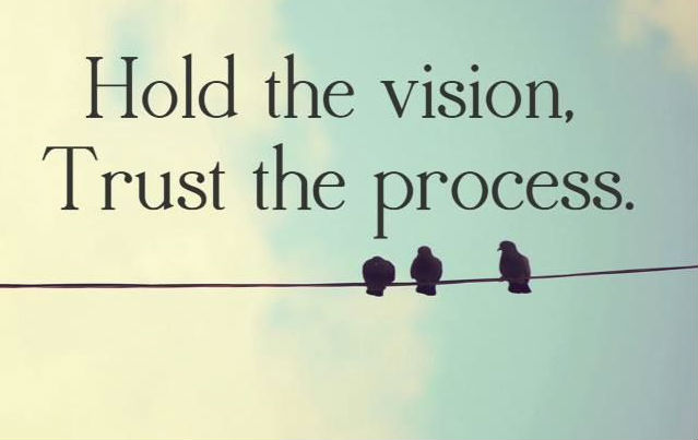 quotes about vision:  Hold the vision, trust the process
