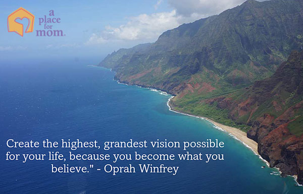 Vision quotes students: Create the highest, grandest vision possible for your life, because you become what you believe