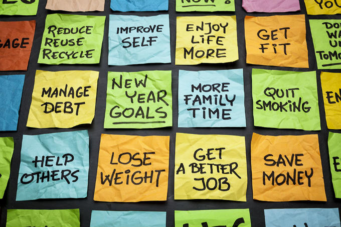 New Years Resolution: Reduce, reuse, recycle. Improve self, enjoy life more, get fit. Manage Debt. New Year Goals. More Family Time. Quit Smoking. Help others. Lose weight, get a better job, save money.