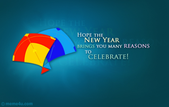 New year wishes: Hope the new year brings you many reasons to celebrate! Happy new year.
