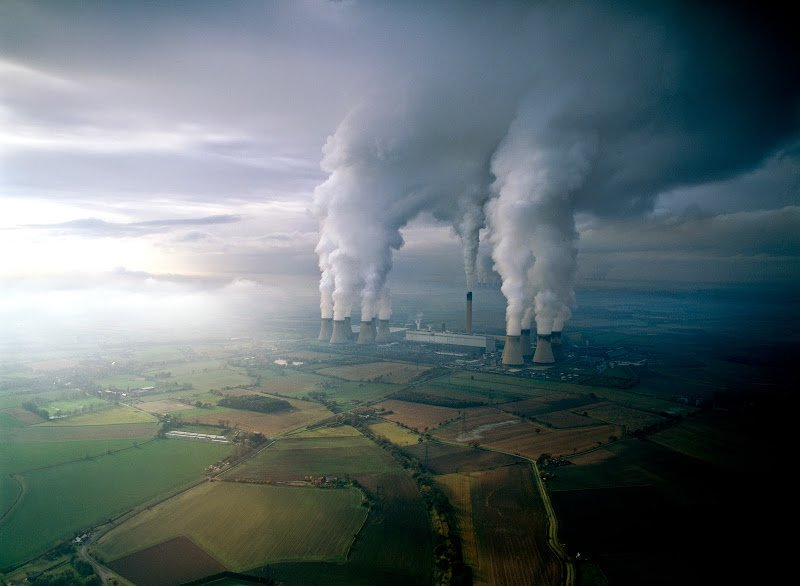 Smoke from factories environment destroying the earth.