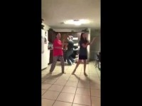 Dad Clearly Outdanced the Two Girls